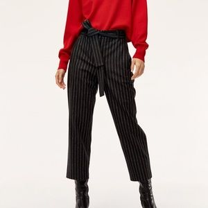 WILFRED JALLADE TIE FRONT WOOL PANTS